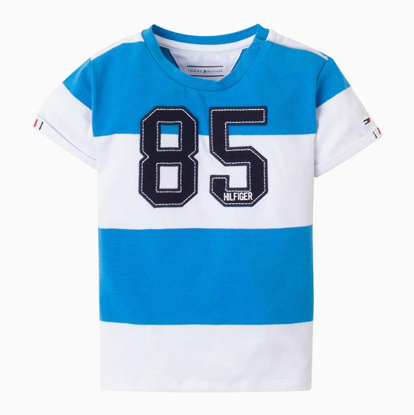 Polo Bebê Stripe Brilliant Blue Tommy Hilfiger
