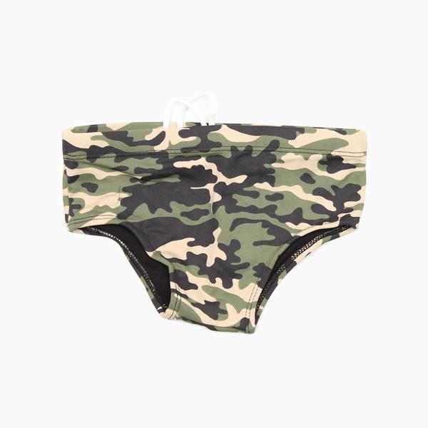 Sunga Infantil Menino Militar Camuflada Banho Maria
