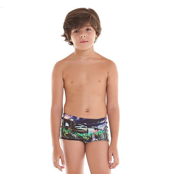 Sunga Menino Caique City Nave Siri Kids