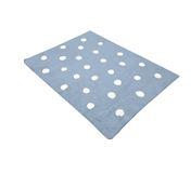 Tapete Quarto do Bebê Dots Azul Bolas Brancas Nina Rugs