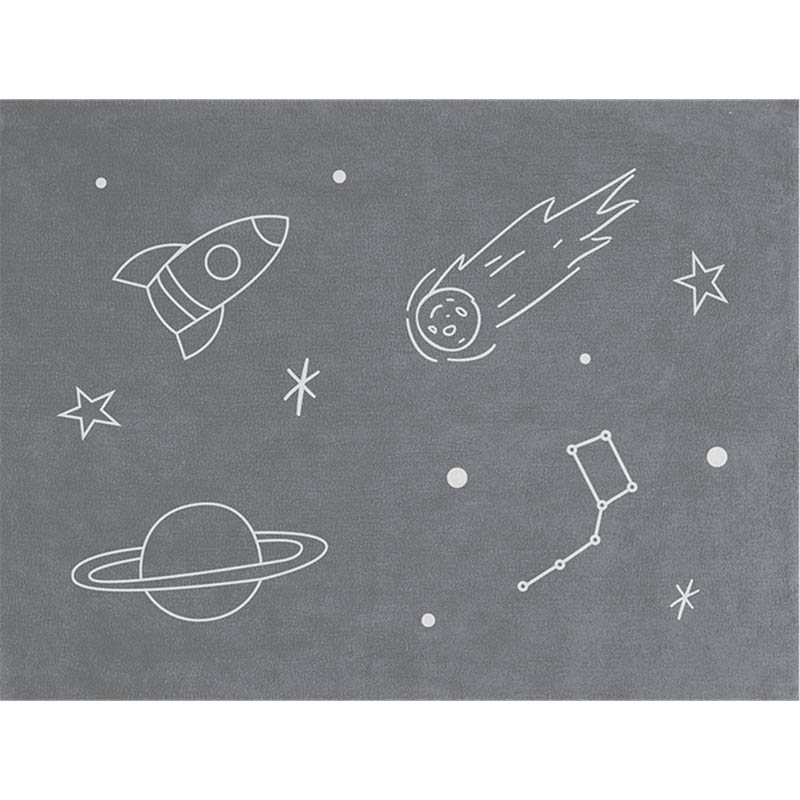 Tapete Quarto do Bebê Space - Cinza - Nina Rugs