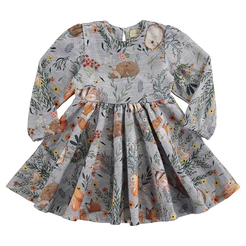 Vestido Bebê Menina Moleton Manga Longa Charpey