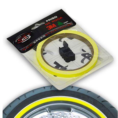 Adesivo de Roda Speed Style Amarelo