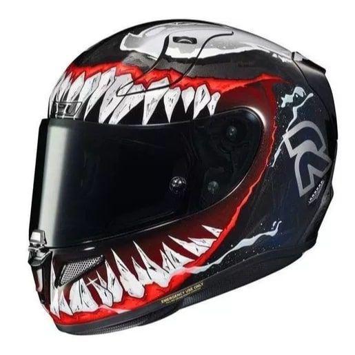 Capacete HJC RPHA 11 Venom Marvel Herois Exclusividade