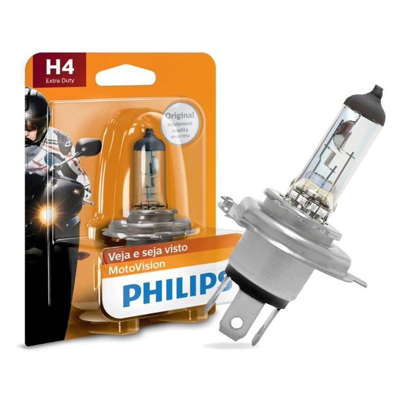 Lâmpada Philips H4 60/55W Motovision