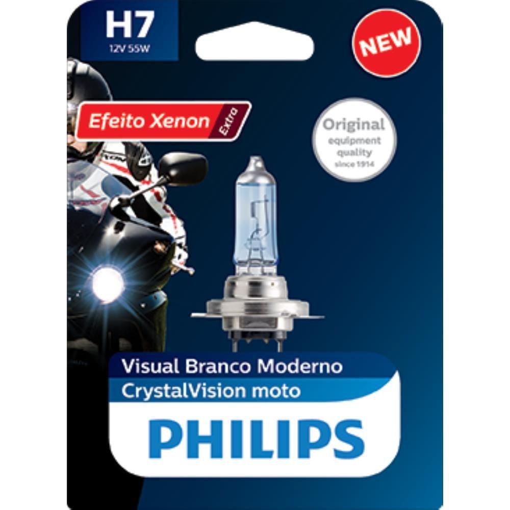 Lâmpada Philips H7 55W Cristalvision Moto