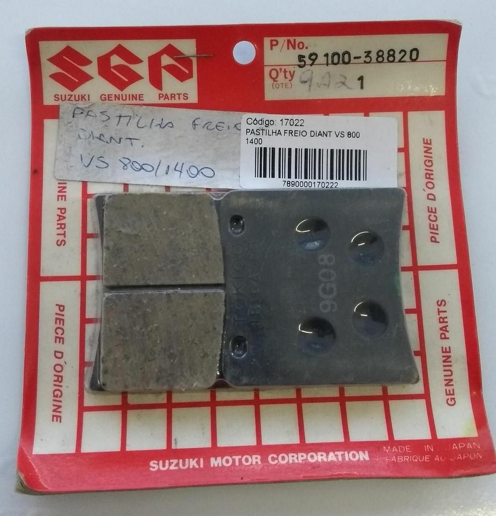 Pastilha de Freio Dianteira Vs Intruder 800/1400 Original Suzuki 59100-38820