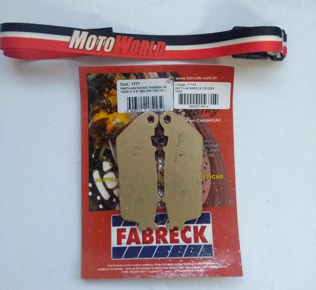 Pastilha de Freio Traseira CB 1000R/VFR 1200 Fabreck