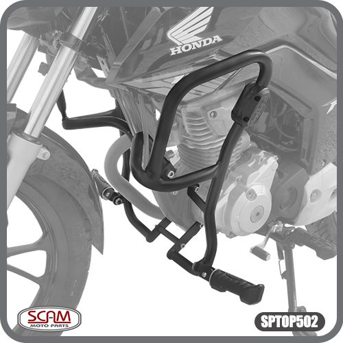 Protetor de Motor Carenagem CG 160 2014 em Diante Honda Scam