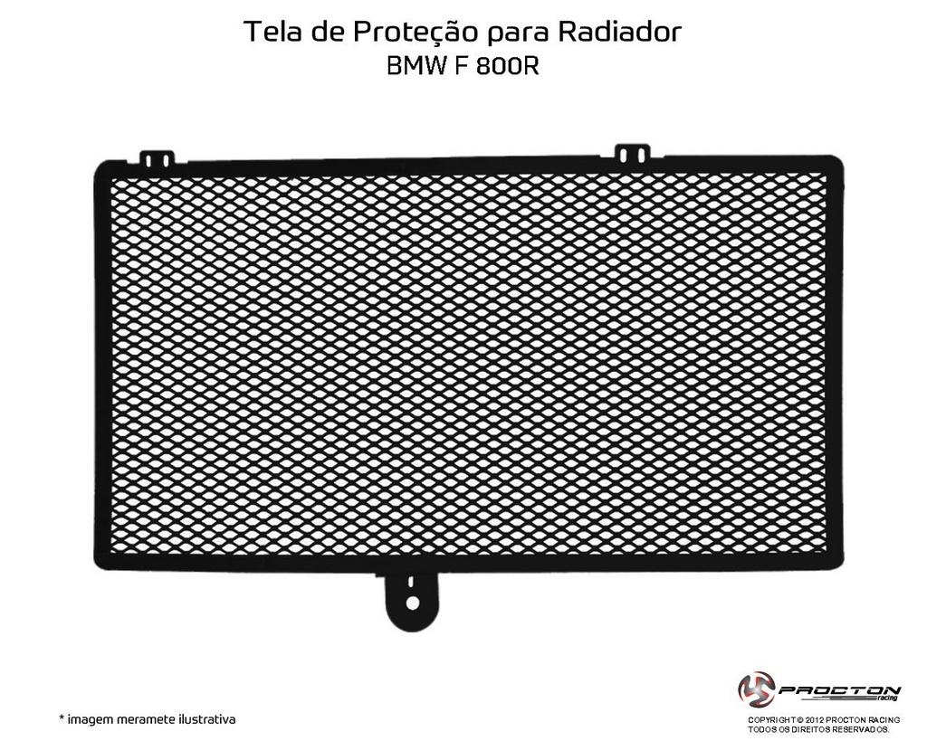 Protetor de Radiador BMW F 800/GS Procton