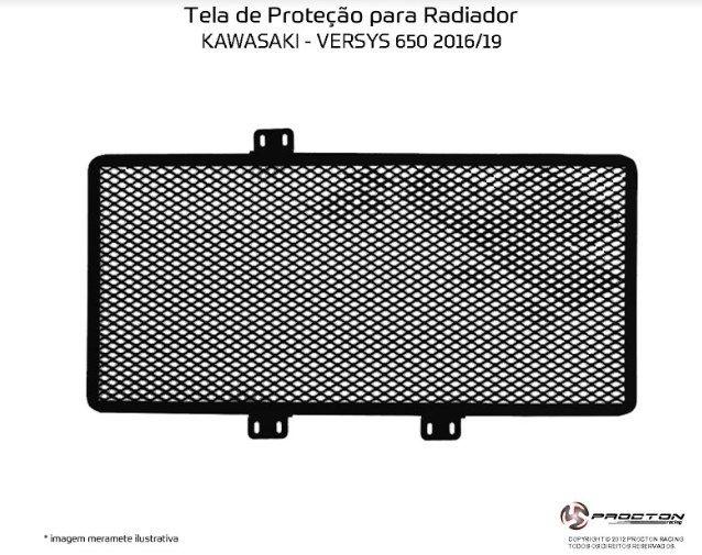 Protetor de Radiador Kawasaki Versys 650 2016/2019 Procton