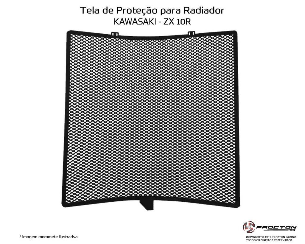 Protetor de Radiador Kawasaki ZX 10R 2008/2019 Procton
