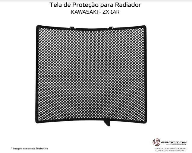 Protetor de Radiador Kawasaki ZX 14R Procton