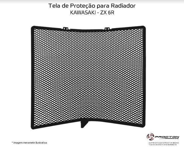 Protetor de Radiador Kawasaki ZX 6R 2010/2019 Procton