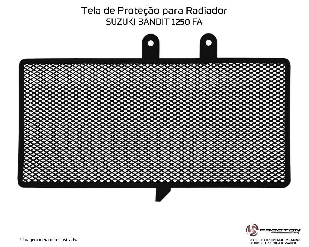 Protetor de Radiador Suzuki Bandit 1250 FA Procton