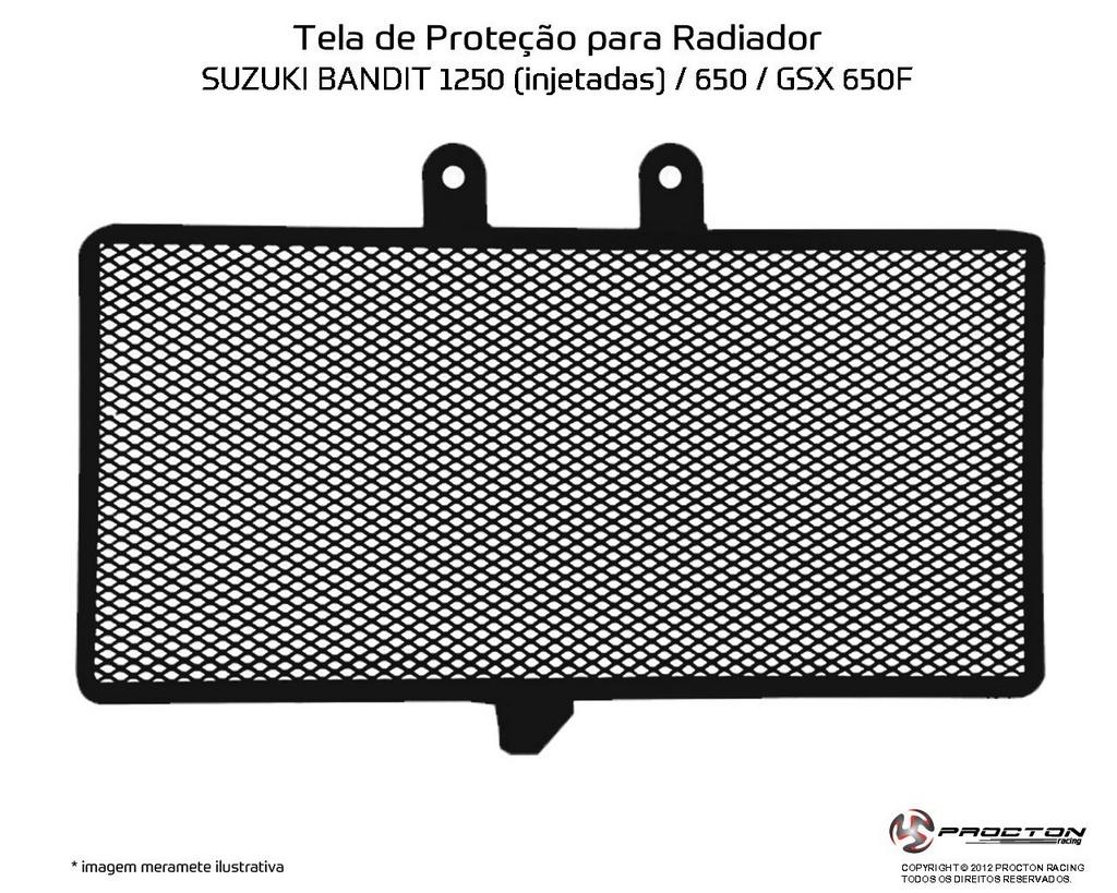 Protetor de Radiador Suzuki Bandit 1250 Procton