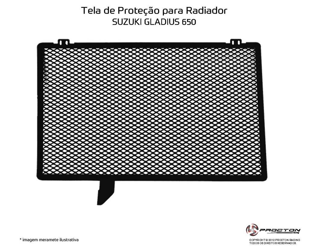 Protetor de Radiador Suzuki Gladius 650 Procton