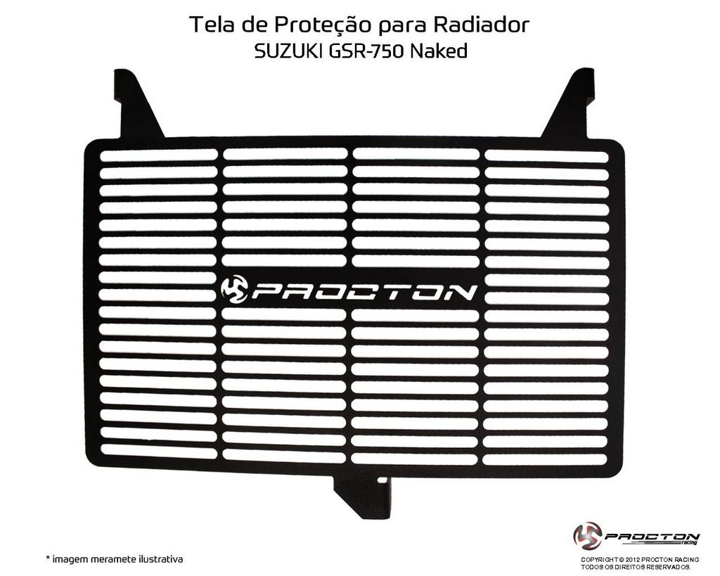 Protetor de Radiador Suzuki GSR 750 Naked Procton