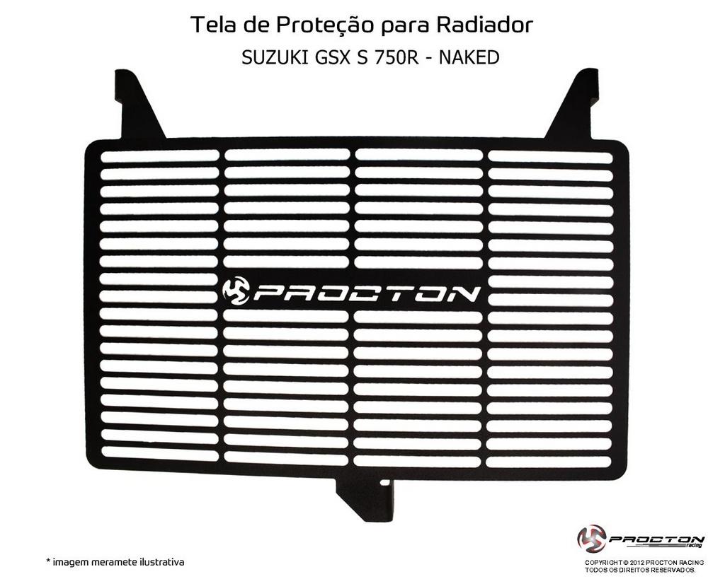 Protetor de Radiador Suzuki GSX S 750R Naked Procton