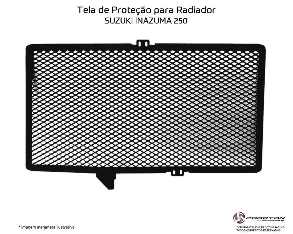 Protetor de Radiador Suzuki Inazuma 250 Procton