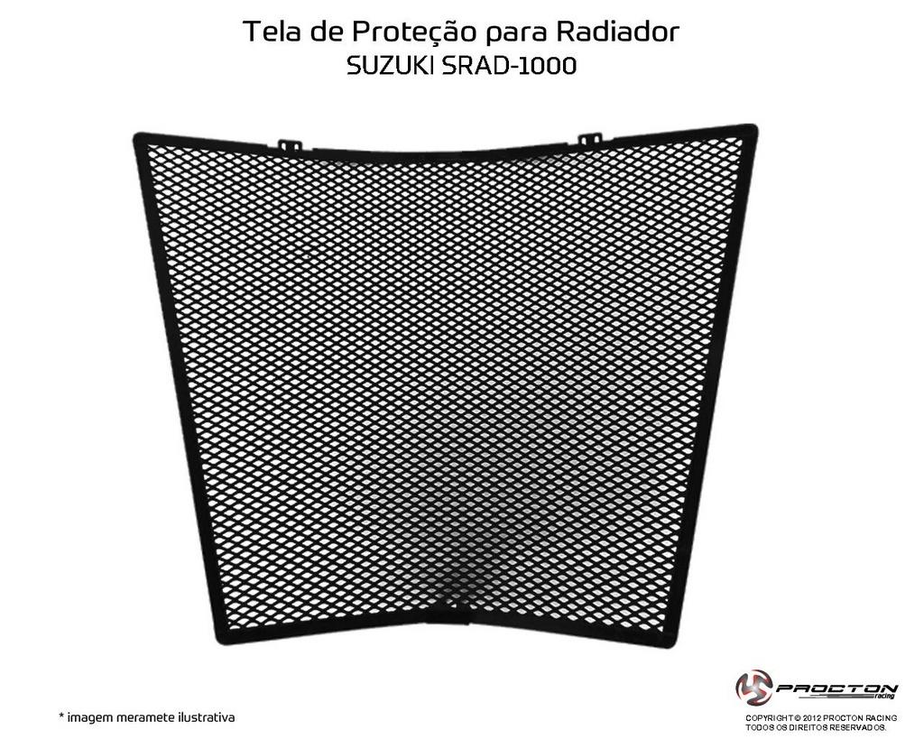 Protetor de Radiador Suzuki SRAD GSXR 1000 2011/2017 Procton