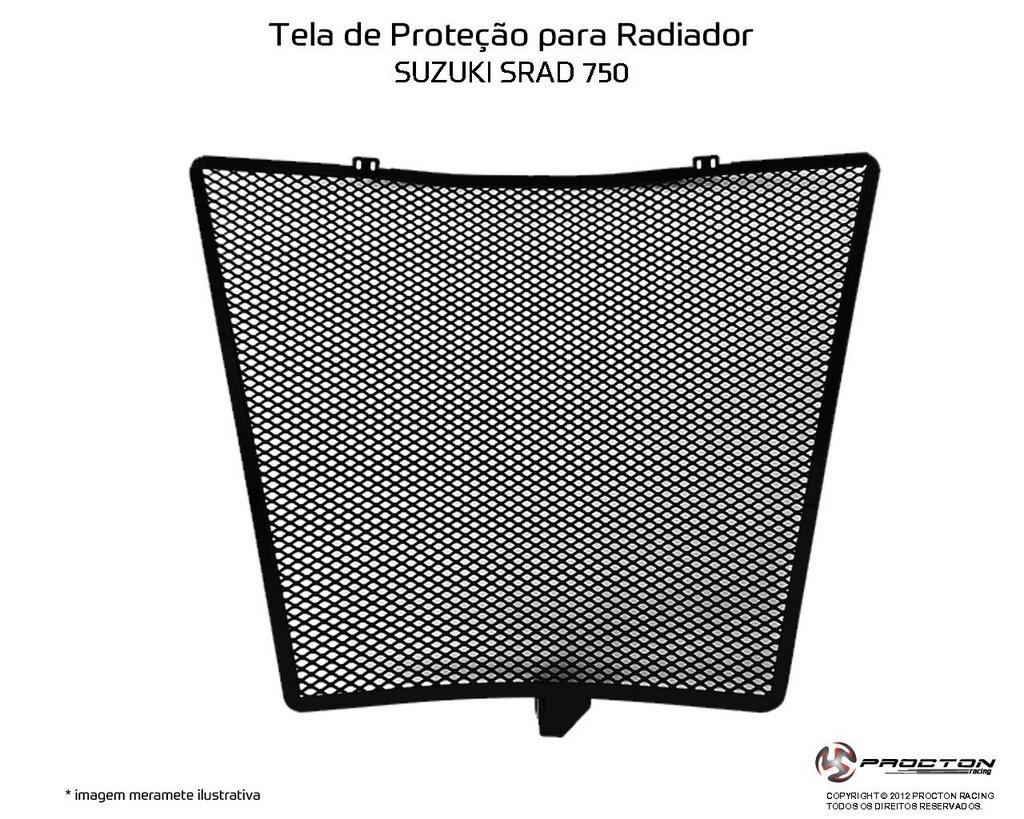 Protetor de Radiador Suzuki SRAD GSXR 750 2014/2017 Procton