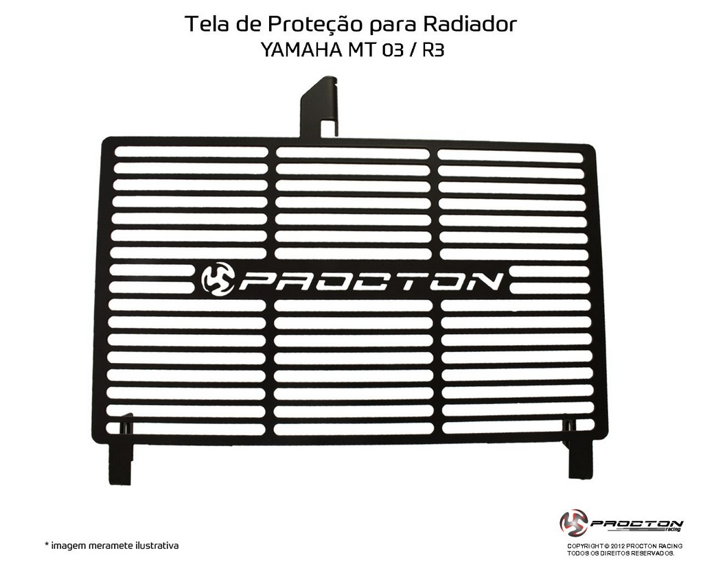 Protetor de Radiador Yamaha MT-03 2016/2019 Procton