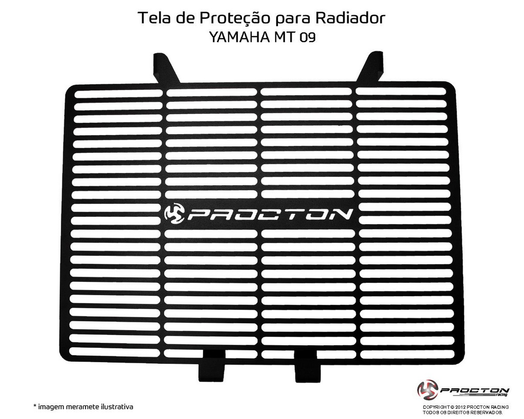 Protetor de Radiador Yamaha MT-09 2014/2019 Procton