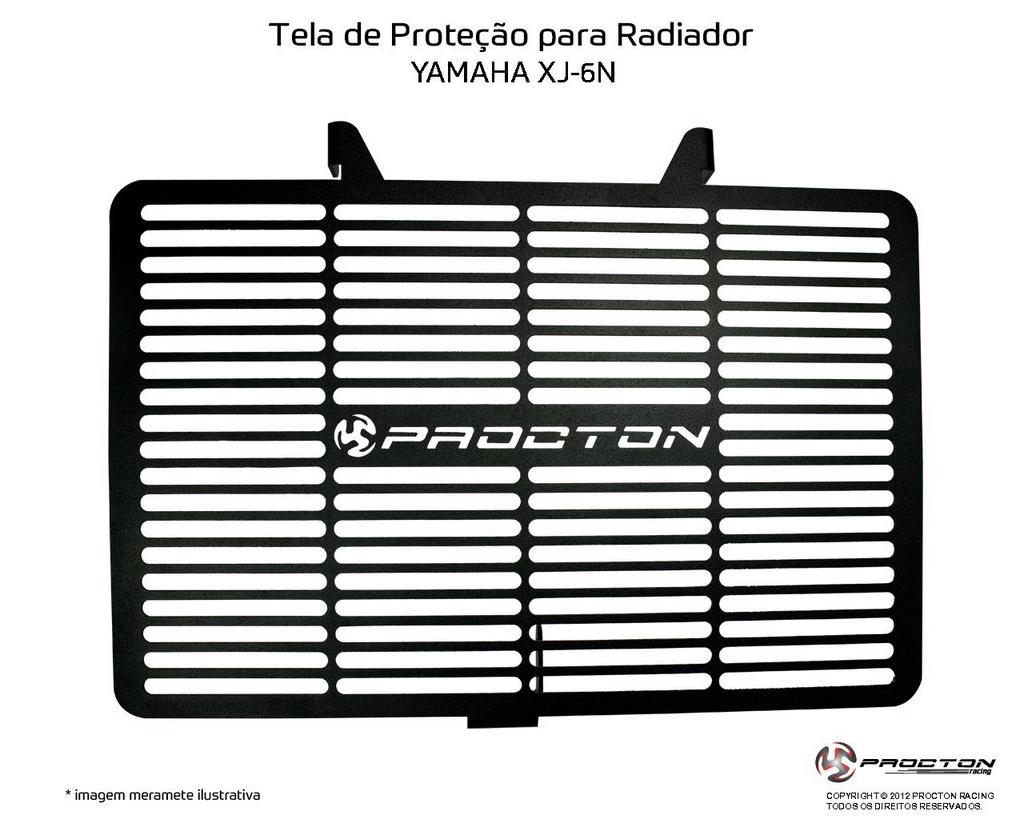 Protetor de Radiador Yamaha XJ6 N 2010/2019 Procton