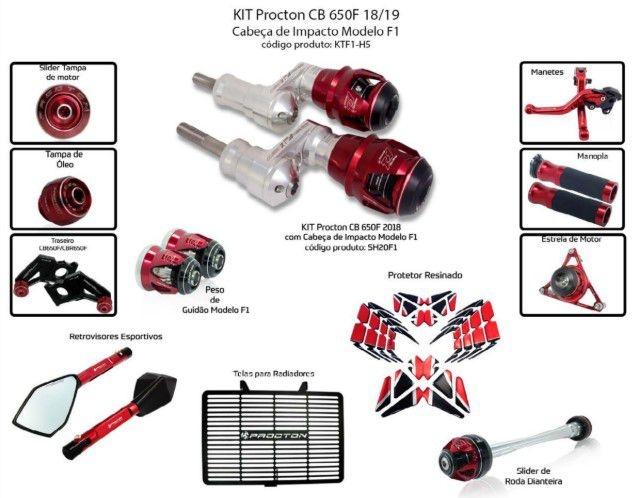Slider CB 650F 2018/2019 Procton - 12 Pecas