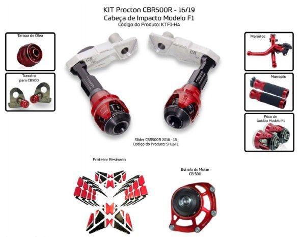 Slider CBR 500R 2016/2019 Procton - 8 Pecas