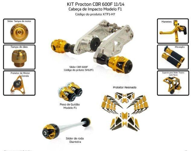 Slider CBR 600F 2011/2014 Procton - 10 Pecas