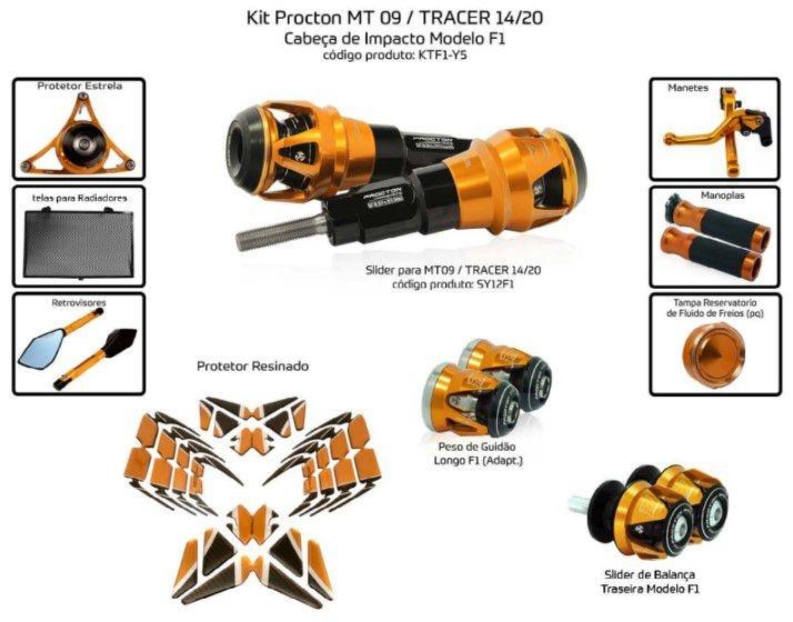 Slider MT-09 2014/2020 Procton - 10 Pecas