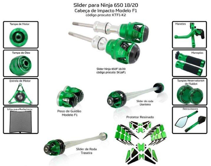 Slider Ninja 650 2018/2020 Procton - 13 Pecas