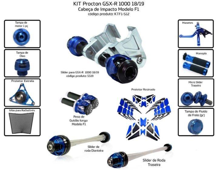 Slider SRAD GSXR 1000 2018/2019 Procton - 13 Pecas