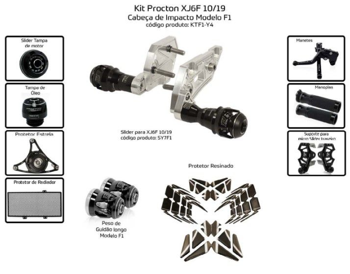 Slider XJ6F 1010/2019 Procton - 10 Pecas