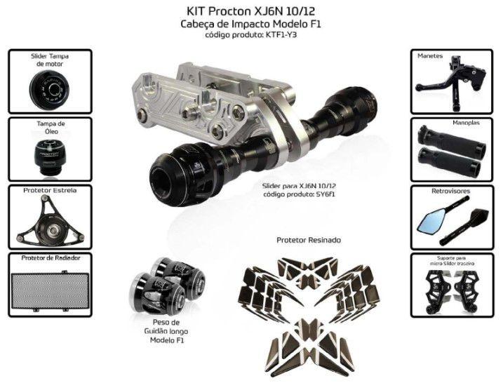 Slider XJ6N 2010/2012 Procton - 11 Pecas