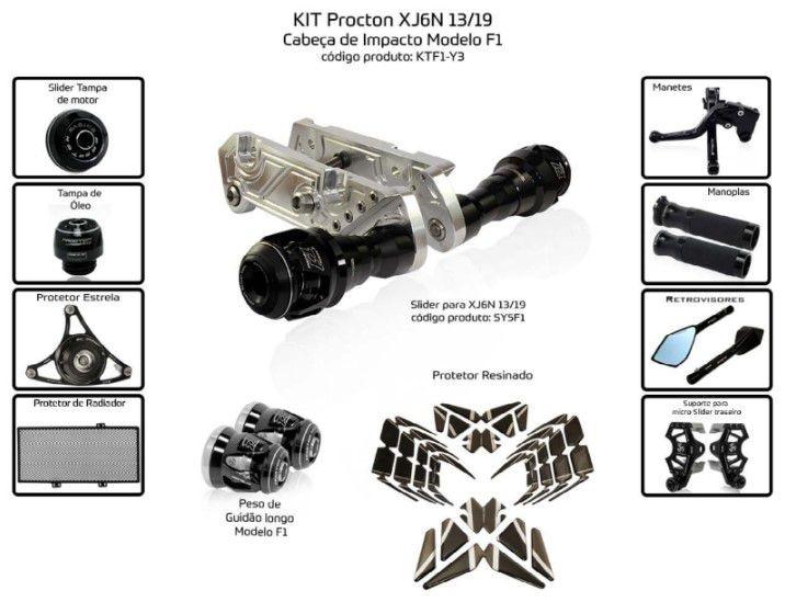 Slider XJ6N 2013/2019 Procton - 11 Pecas
