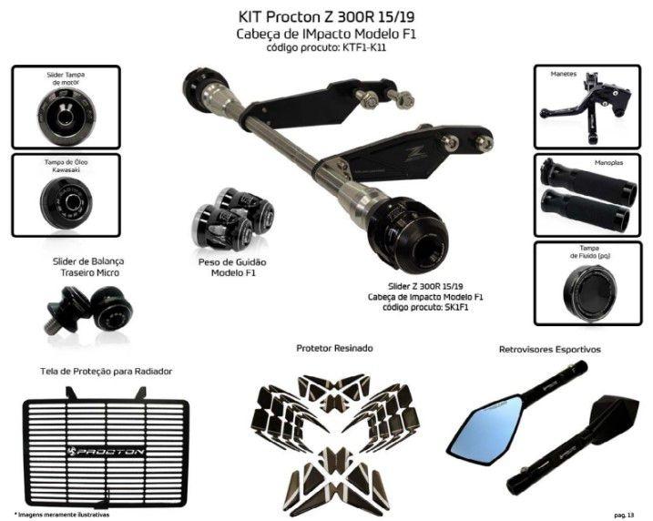 Slider Z300 2015/2019 Procton - 11 Pecas