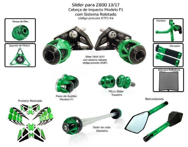 Slider Z800 2013/2017 Procton - 11 Pecas