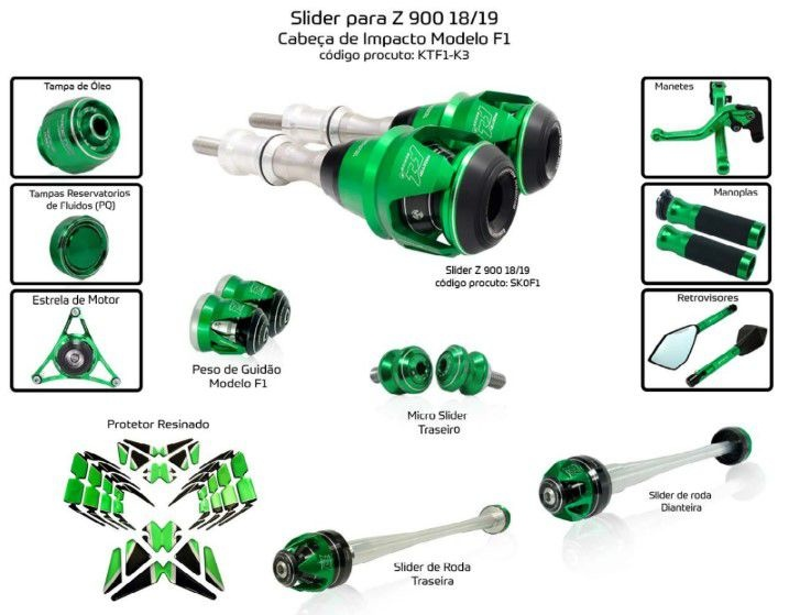 Slider Z900 2018/2019 Procton - 12 Pecas