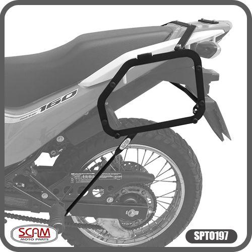 Suporte de Baú Lateral Honda XRE 190 2016 em Diante Scam