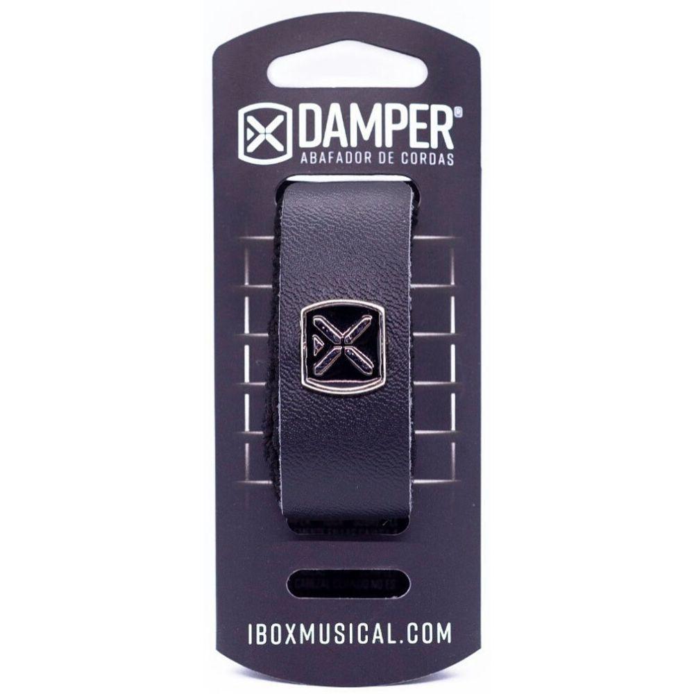 Abafador Para Violão, Guitarra E Baixo Ibox Preto Em Couro Damper Supreme - Dsmd02
