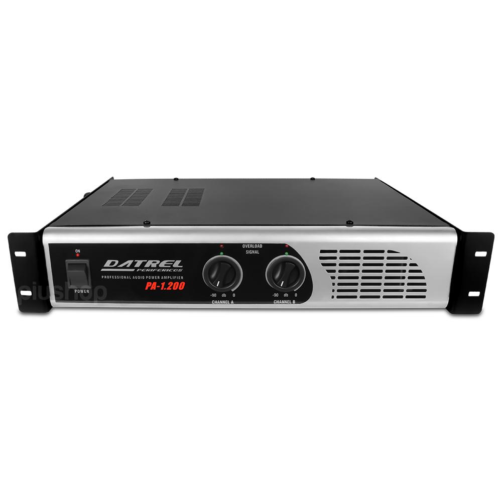 Amplificador de Potência Profissional 200 Watts 4 Omhs Pa 1200 - Datrel