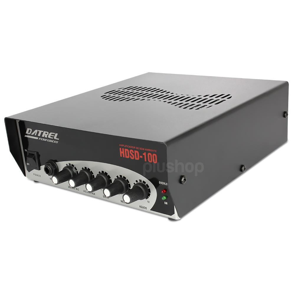 Amplificador de Som Ambiente 100 watts Hds 100 - Datrel