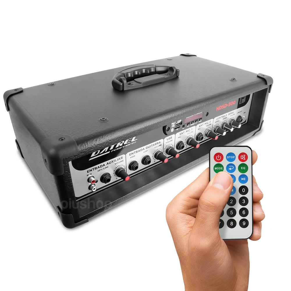 Cabeçote Amplificador 300 Watts Bluetooth Usb/Sd/Fm HDS 500 - Datrel