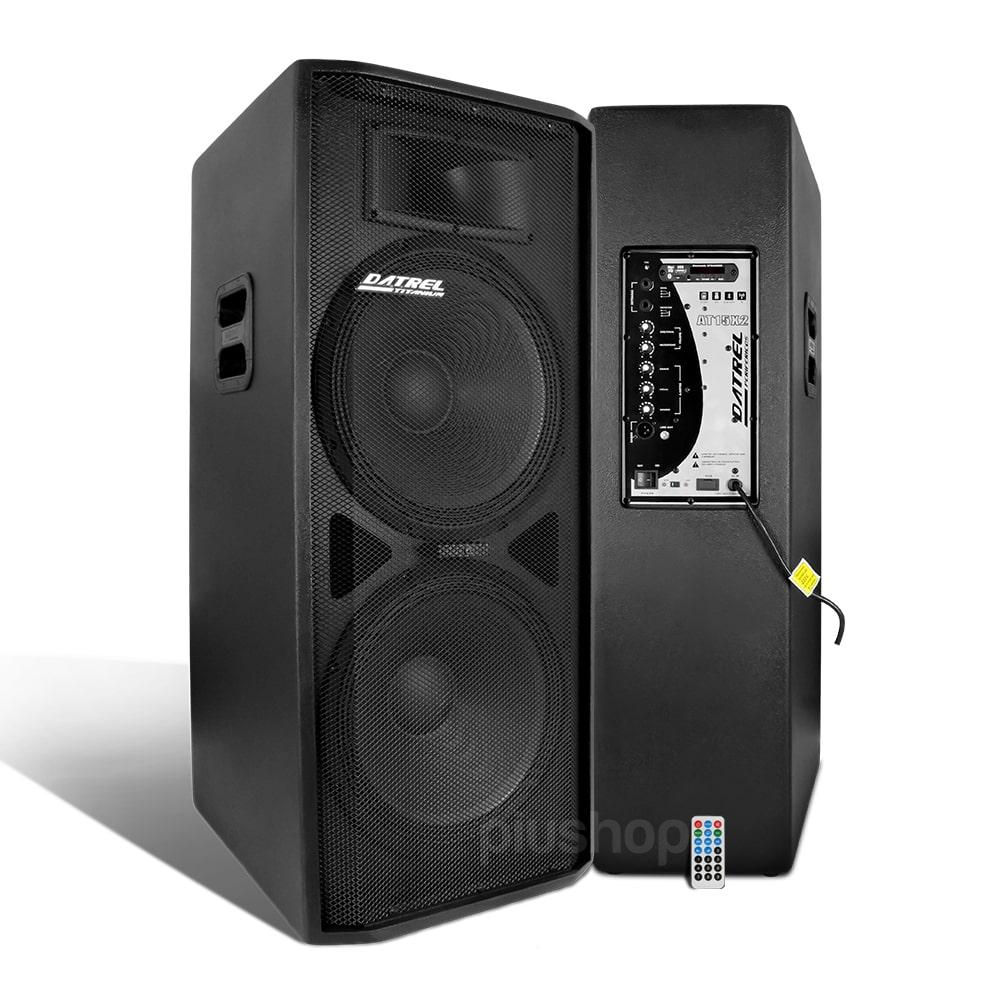Caixa de Som Amplificada 2 Falantes 15 600w Rms Bluetooth At 15x2 Ti Dupla - Datrel