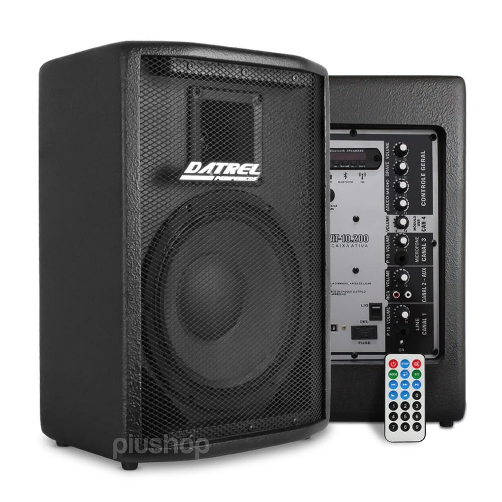 Caixa de Som Ativa 200 Watts Bluetooth/Usb/Fm At 10 200 Blue - datrel