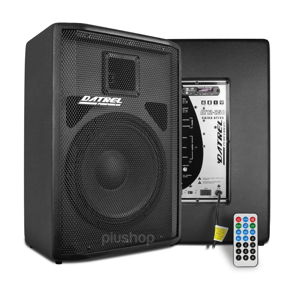 Caixa de Som Ativa Falante 12 250w Bluetooth/Usb/Fm/Sd At 12 250 Blue - Datrel