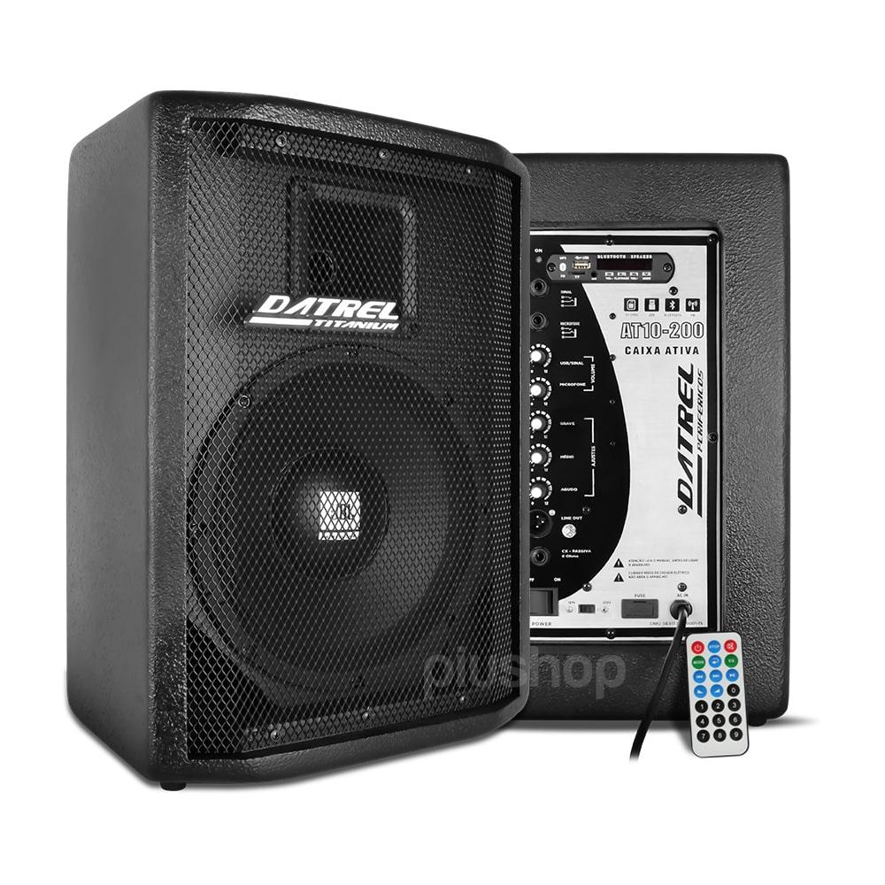 Caixa de Som Ativa Falante Jbl 10 200w Usb Bluetooth Fm Sd - Datrel